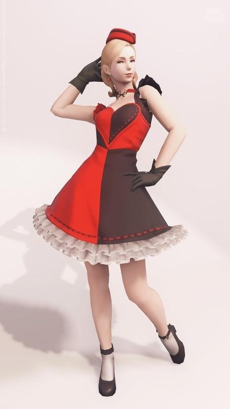 1950 年代風レディ RED