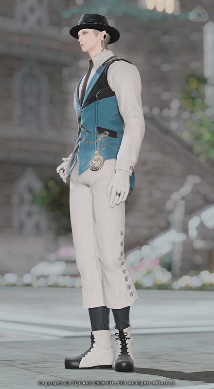 足元がお気に入りの青×白コーデ