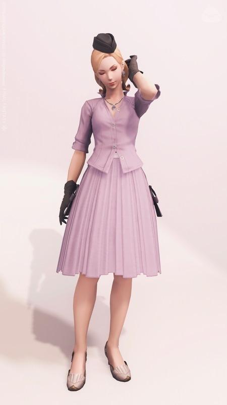 1950年代風レディ PURPLE