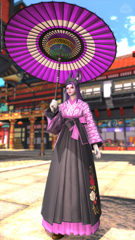 袴ドレスの和ロリータ風
