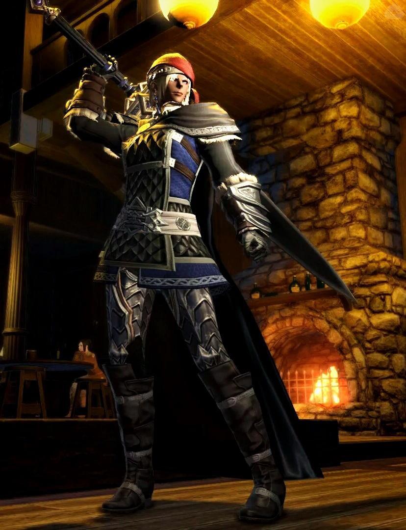RPGの酒場にいそうな女傭兵