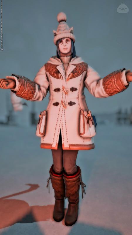 ウィスパーファインウール・コートで冬の女装コーデ