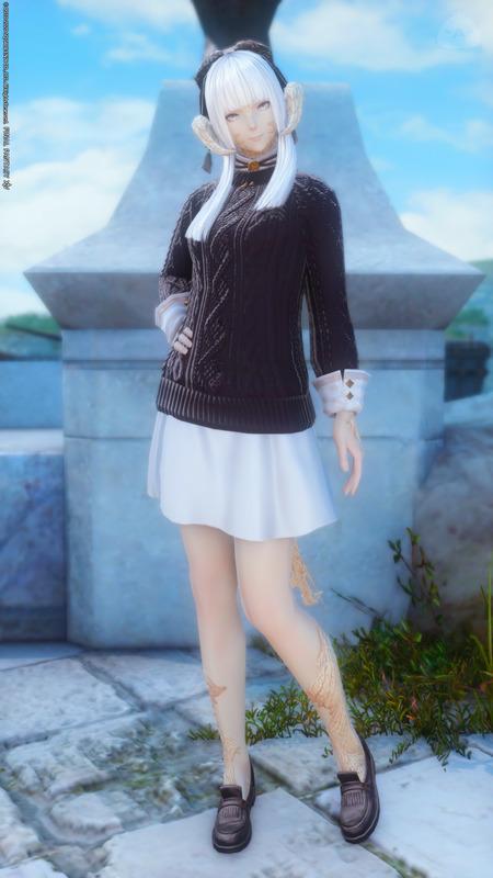 セーターを使った秋コーデ